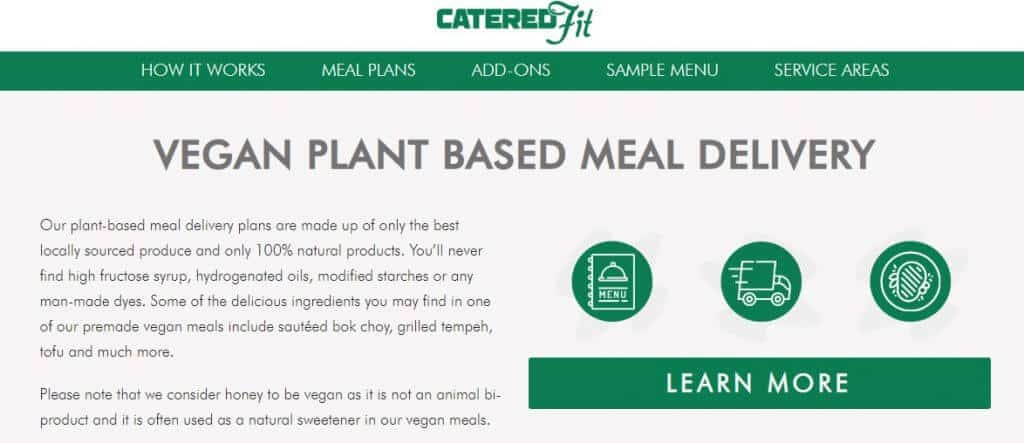 Catered Fit - vegan weekly meal plan