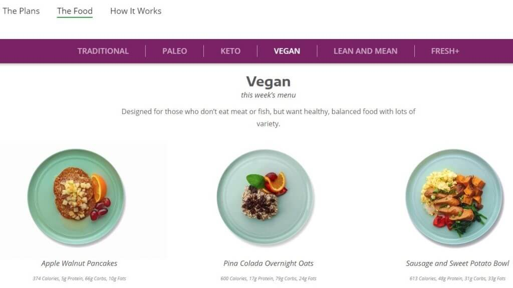 fresh meal plan - healthy vegan meal plan