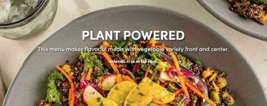Green Chef - vegan weight loss meal plan