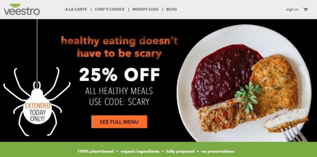 Veestro - healthy vegan meal plans