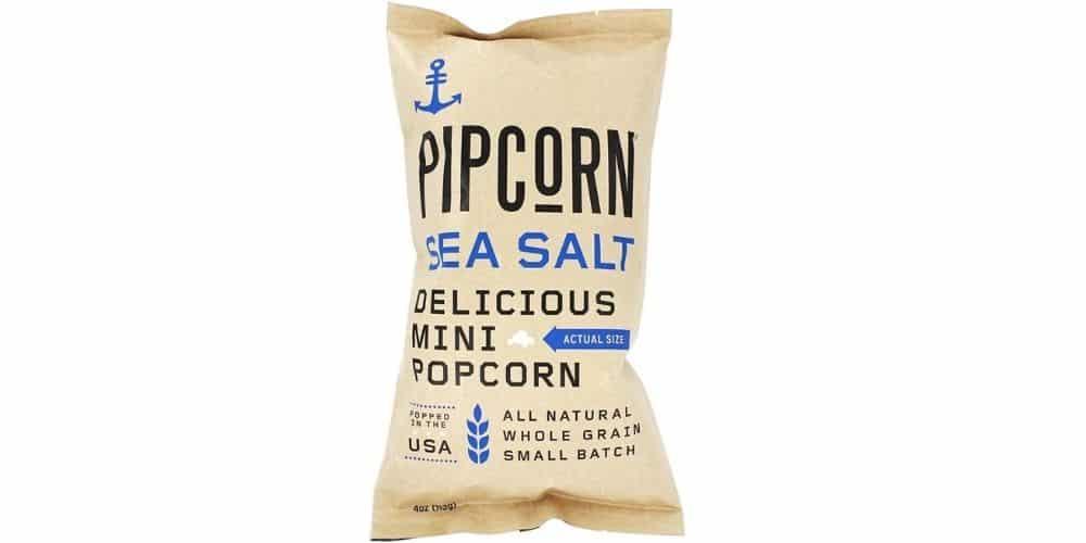 Pipcorn Sea Salt - dairy free popcorn brand