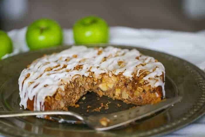 Vegan Coffee Cake with Apple Cinnamon Streusel