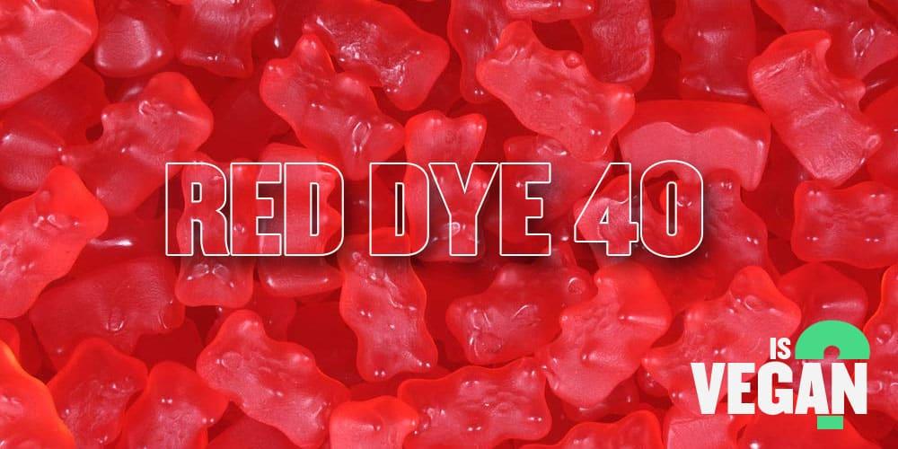 Is Red 40 Vegan