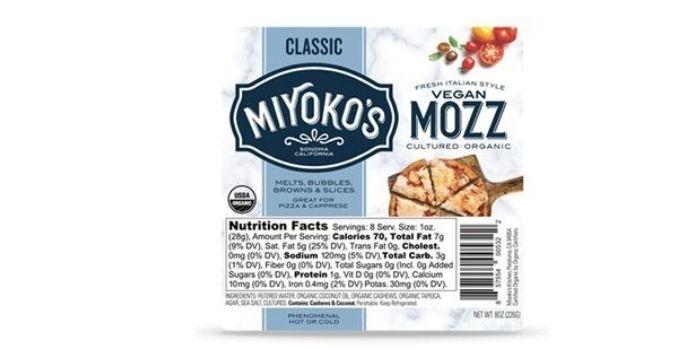 Miyoko's Creamery - vegan cheeses for pizza