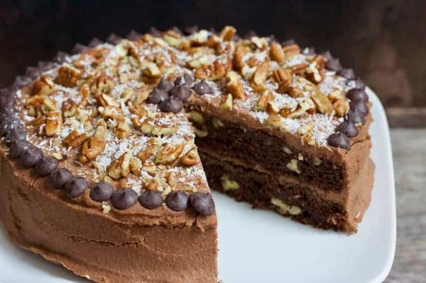 vegan german chocolate cake recipe