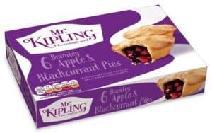 Mr Kipling Apple & Blackcurrant Pies - vegan