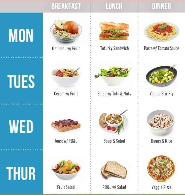 Planning Vegan Meal to become a vegan