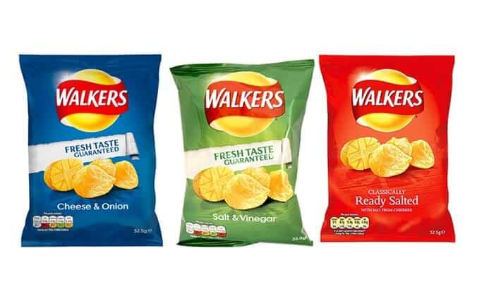 Walkers Crisps - foods you didn't know were vegan