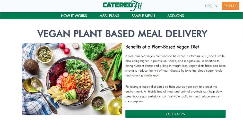 Catered Fit Vegan Meal Plan