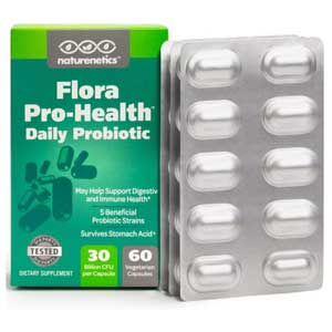 Naturnetics Flora Pro-Health Daily Probiotic Supplement