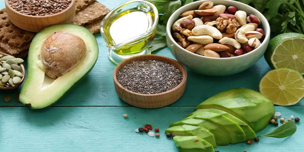 Healthy fat sources for a vegan bodybuilding diet plan
