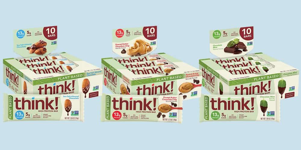 thinkThin Protein Bars Vegan Flavors