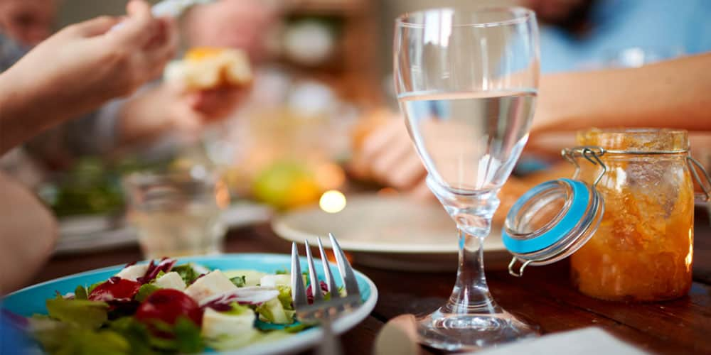 Limit Water Intake with Meals