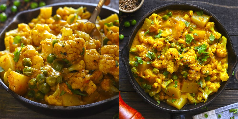 Curry with Cauliflower and Peas Recipe