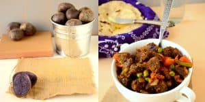 Stir Fried Vegetables Curry with Purple Potatoes