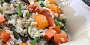 Brown Rice With Roasted Vegetables