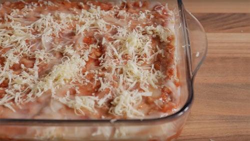 meat free dairy free lasagna