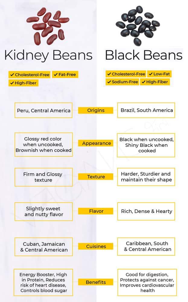 Black Beans vs Red Kidney Beans
