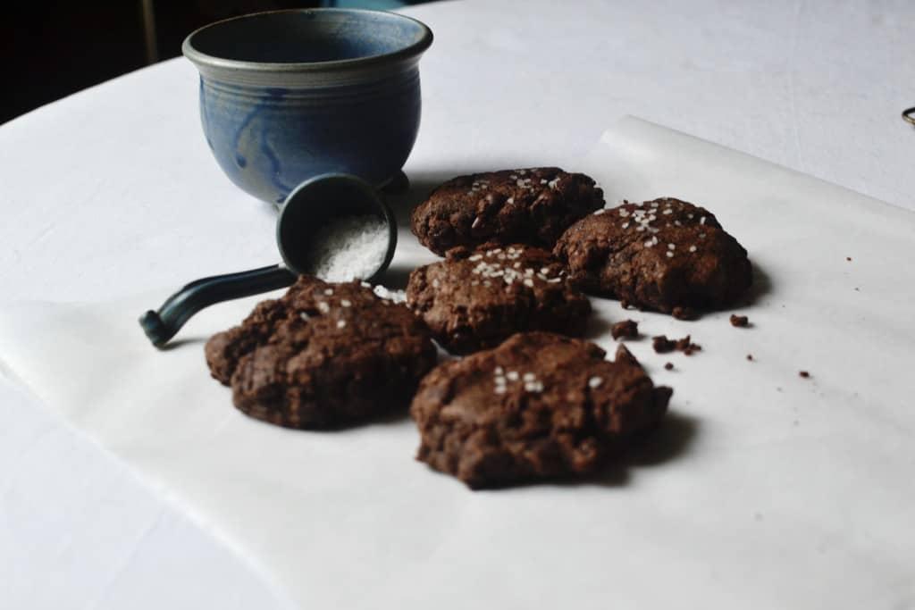 Salted Chocolate Buckwheat Cookies