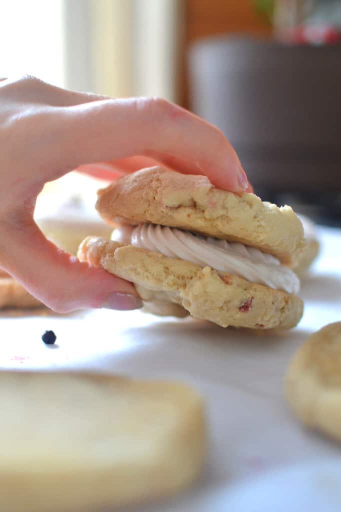 Berries and Cream Sandwich Cookies (Vegan & Gluten Free)