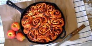 Vegan Caramel Apple Cinnamon Rolls