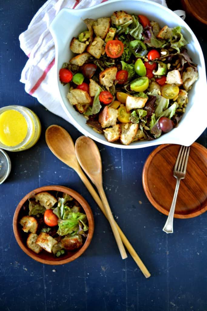 Vegan Sourdough Panzanella Salad